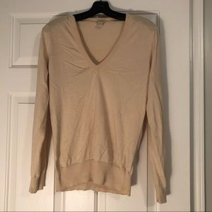 Jcrew camel colored vneck sweater